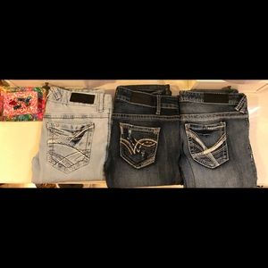 Bundle of 3 Rue21 Twenty-one Black Jeans